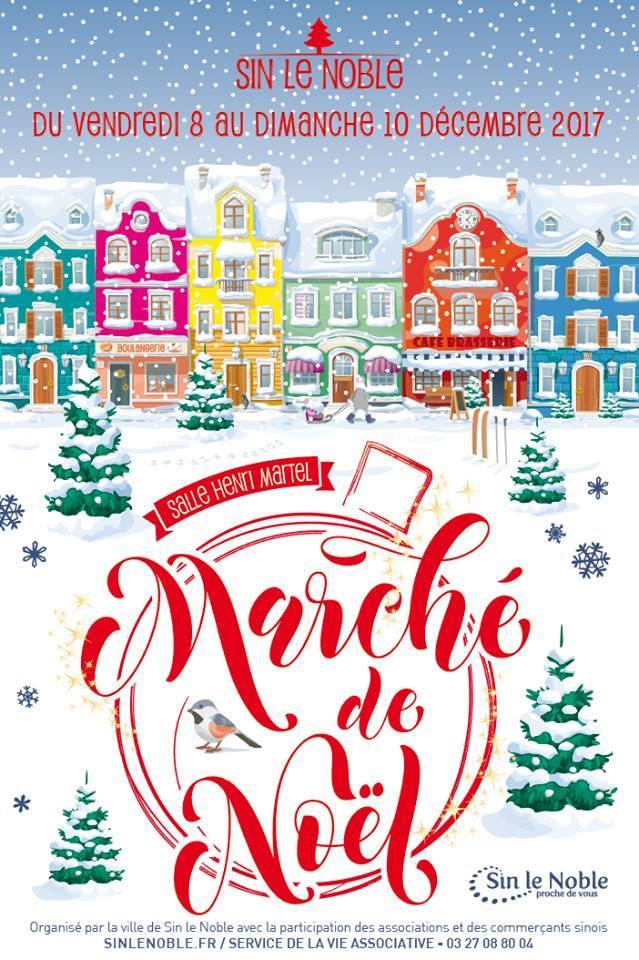 Marché de Noël Sin le Noble 59450