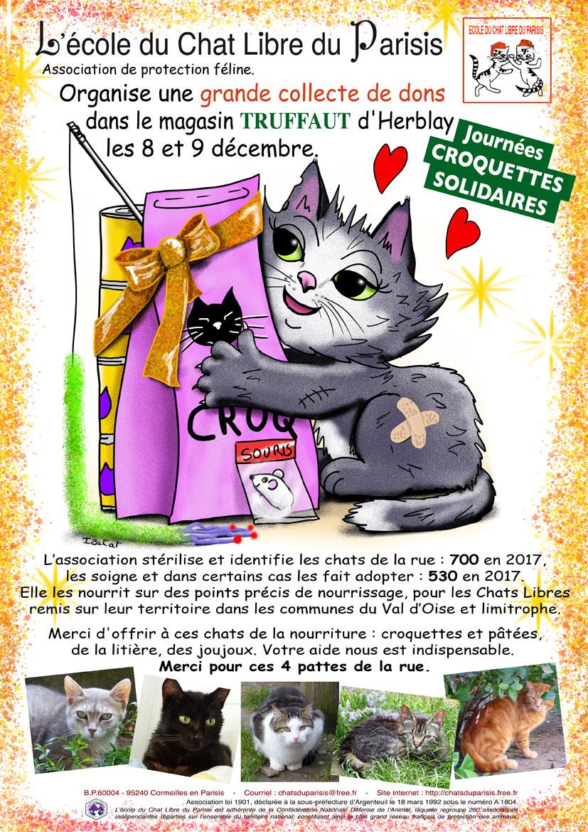 Collecte annuelle de nourriture féline les 8 et 9 décembre à Herblay (95)