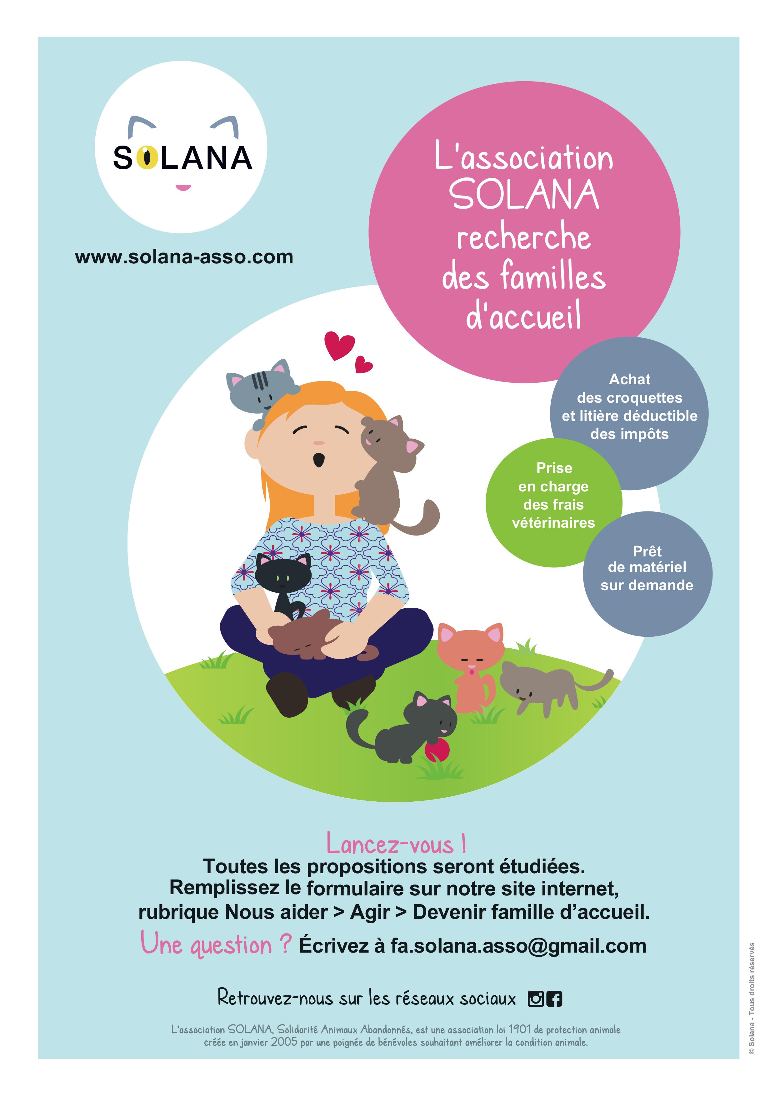 Solana recherche des familles d'accueil
